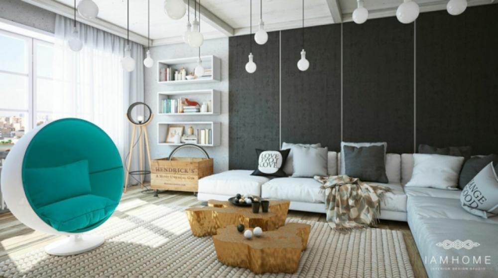 Belle Maison Interieur. Cool Belle Maison Moderne Dans Le Ciment De ...