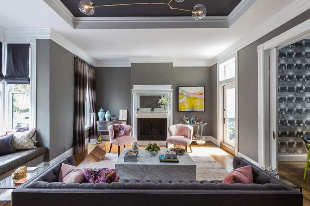 Decoration salon maison de maitre - Decoration eclectique appartement centre ville floride ...