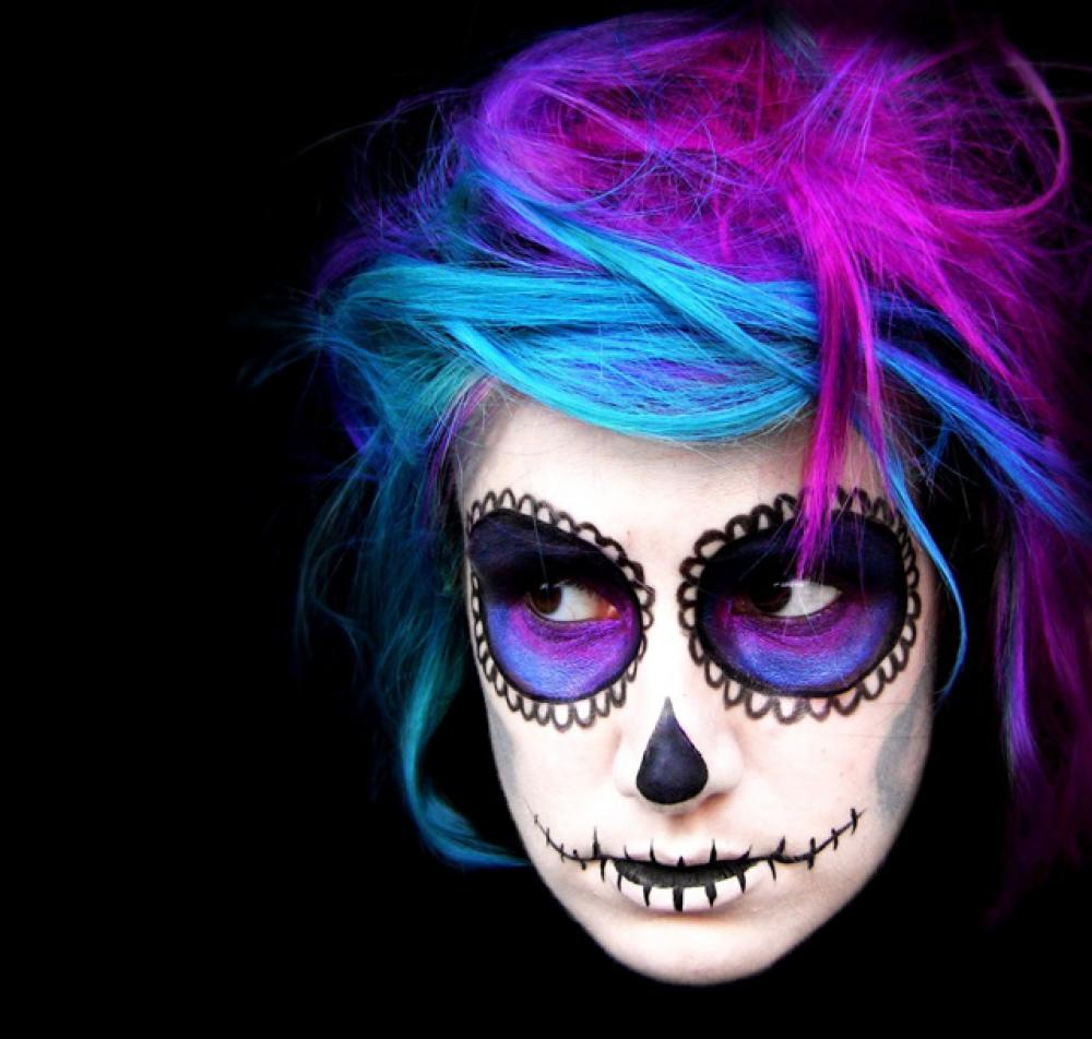 15 exemples de maquillages halloween pour se faire ou for Pinturas de cara para halloween