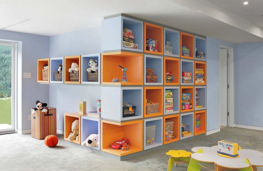 rangement des jouets au design ludique pour une chambre denfant propre et range - Rangement Chambre D Enfant