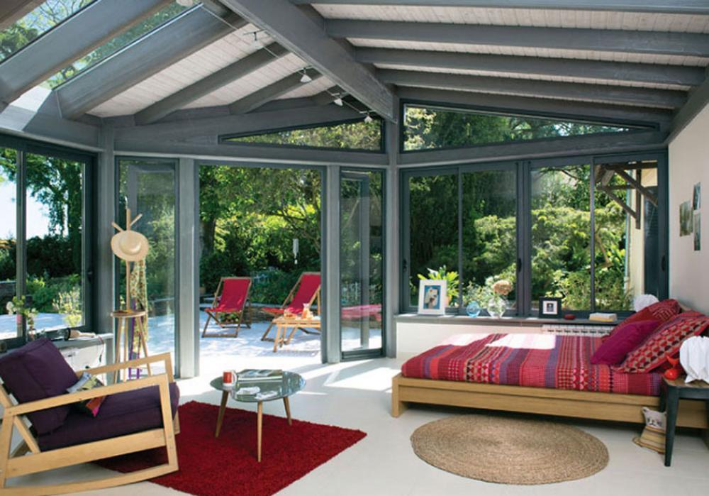 Veranda Moderne Maison De Ville Agrandissement
