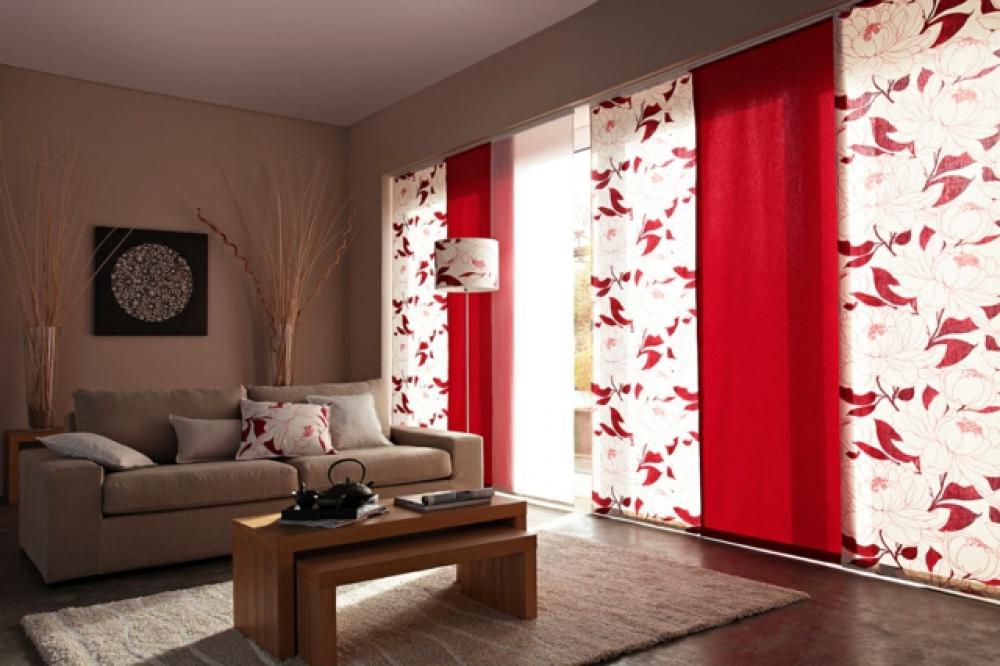 Charmant Ambiance Convivial Panneaux Japonais Rouges