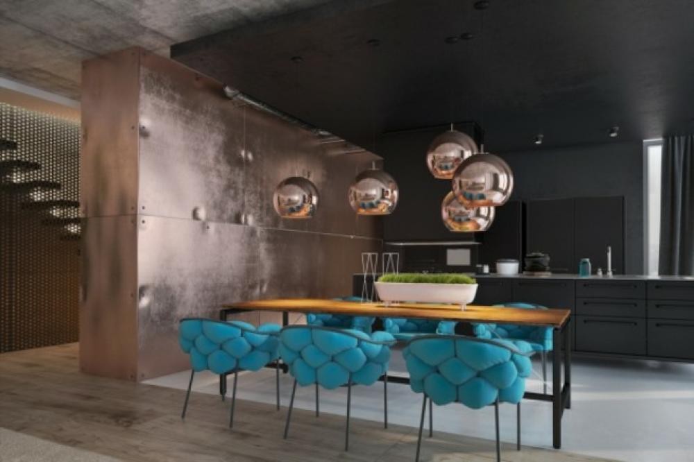 Peindre les murs int rieurs dans des couleurs sombres design feria - Deco mur interieur moderne ...