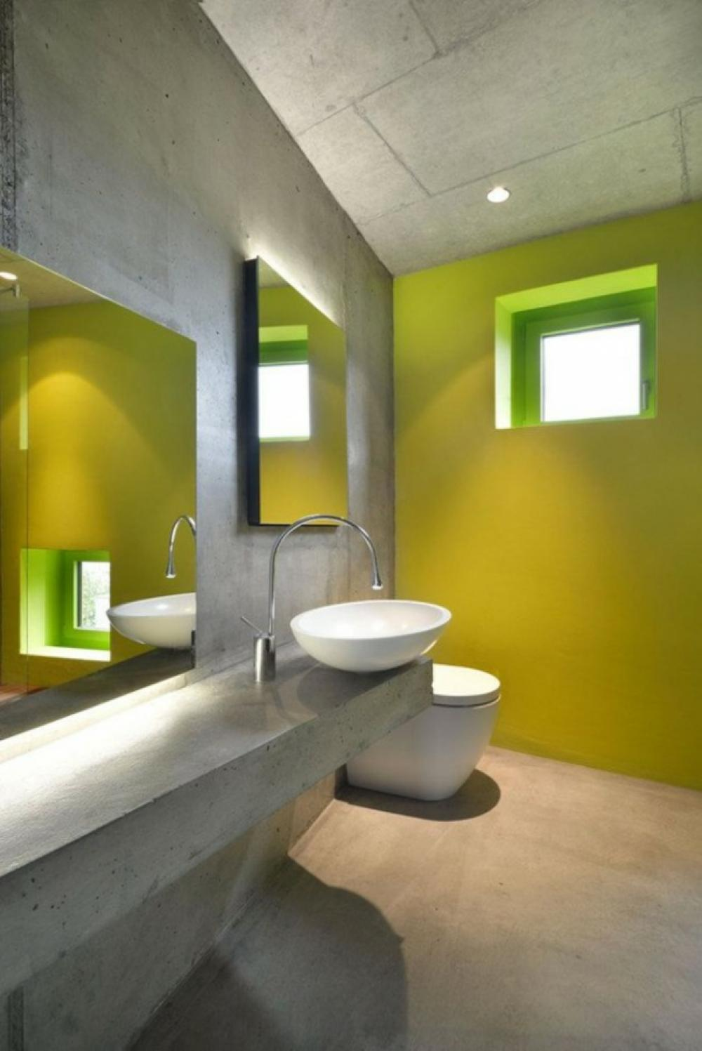 16 idées béton pour des salles de bain design - Plafond Pour Salle De Bain