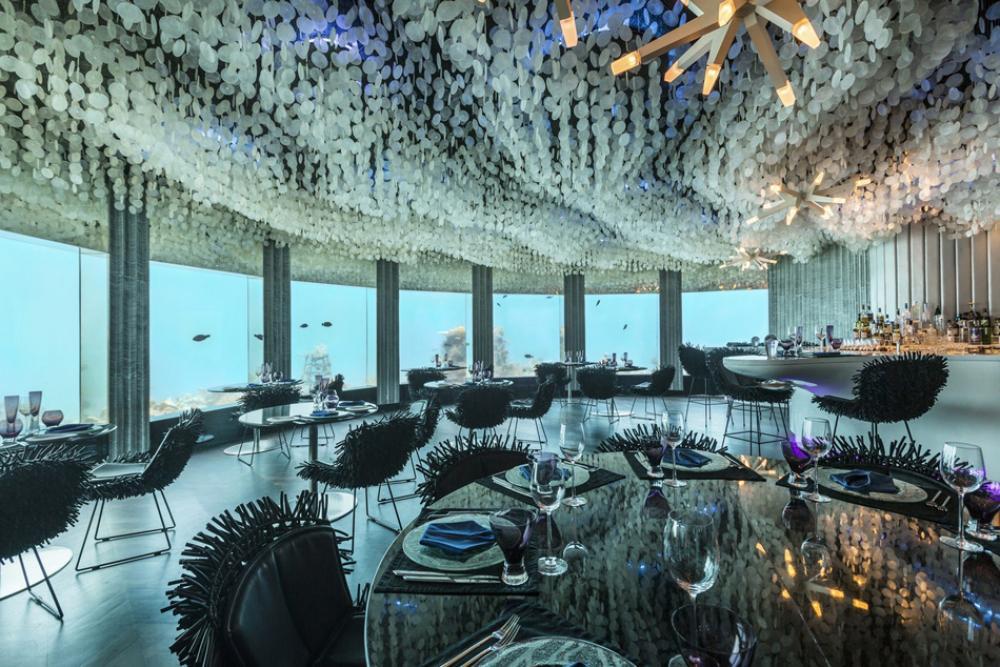Restaurant original au cœur de l océan indien près des