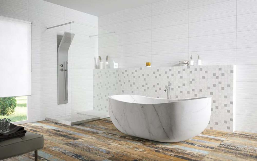 Salle de bain design feria for Carrelage salle de bain contemporaine