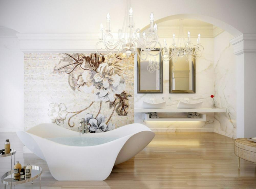 Meuble Salle De Bain Luxe #13: Salle De Bain De Luxe Au Design Modern Et Chic