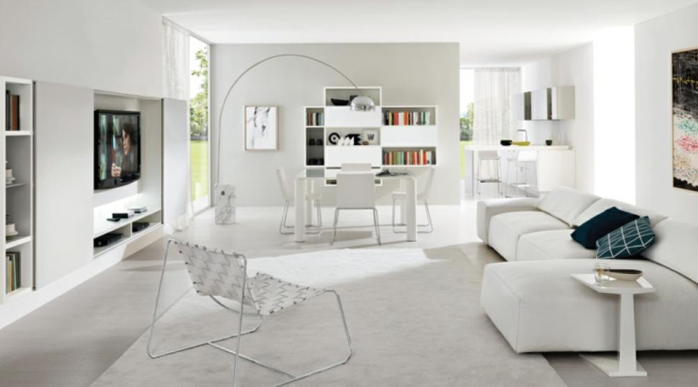 Un design italien pour un s jour contemporain l gant for Salon sejour contemporain