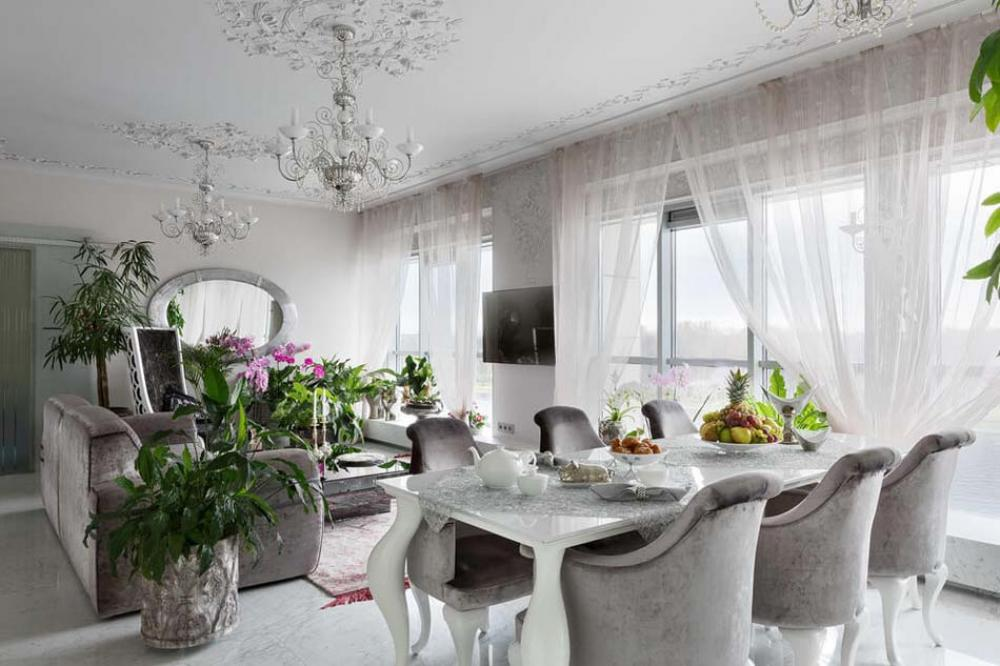 Bel appartement luxueux saint p tersbourg au design for Plantes vertes appartement