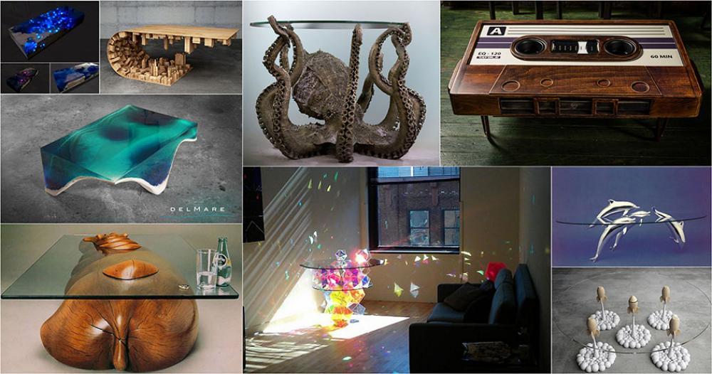 La table basse design un mobilier original au c ur du salon de la maison design feria Table basse originale design