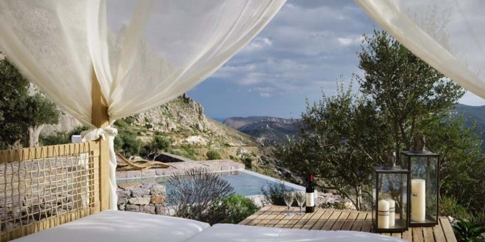 Vue splendide villa de luxe vacances