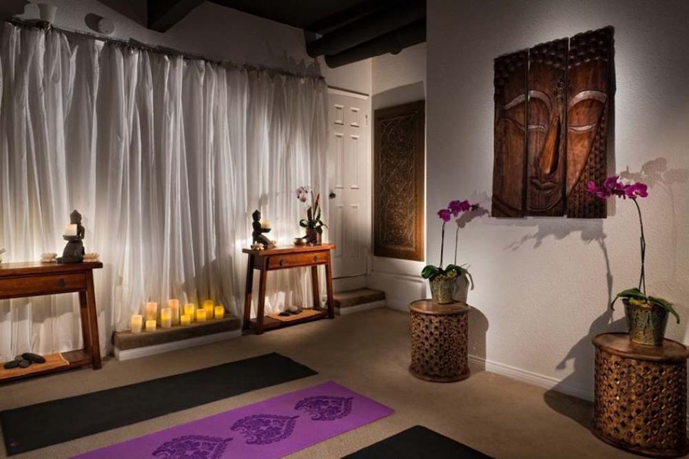Des espaces au « zen design » spécialement créés pour la méditation et le  yoga