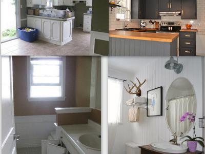 avant et après de la rénovation à petit prix