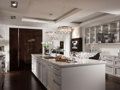 cuisine moderne en lumiere tamisee