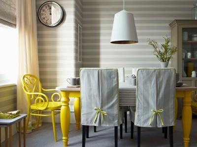 touches jaunes pétillantes pour salle à manger design