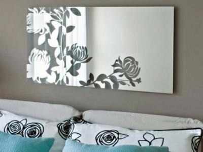 miroir à fleur très design