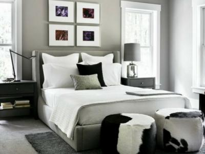 ameublement chambre tout en gris