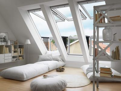 fenêtre de toit appartement citadin moderne