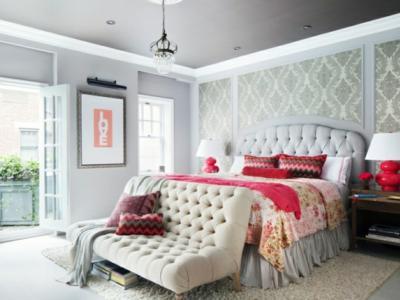 ambiance design féminin chambre