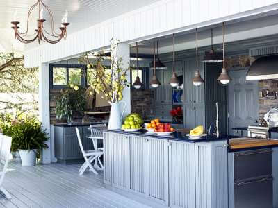 cuisine d'été aménagement design jardin outdoor