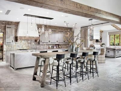 cuisine moderne design contemporaine rustique