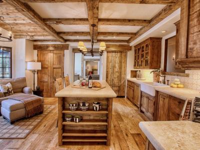 placards cuisine rustique bois massif