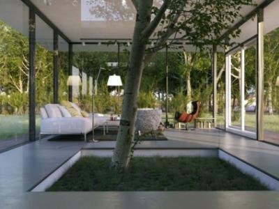 deco salon écologique unique design vert