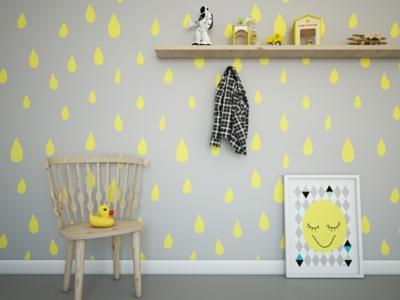 papiers peints ou stickers muraux chambre d'enfant