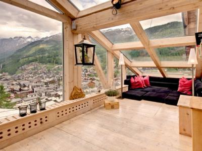 maison de luxe chalet en bois montagne