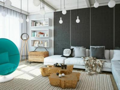 intérieur design maison en gris