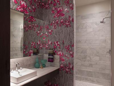 papier peint salle de bain moderne vinyle