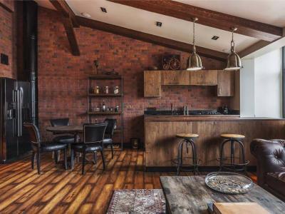 petite cuisine design industriel moderne loft