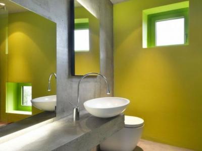 salle de bain design plafond dalle en béton