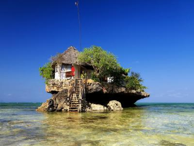 restaurant en plein milieu de l'océan Indien