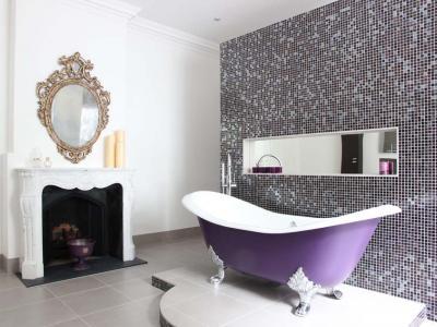 baignoire couleur salle de bain design