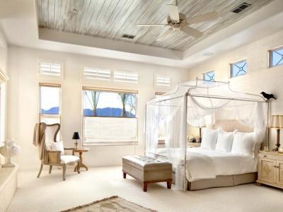 lit à baldaquin toile moustiquaire fine