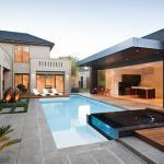 aménagement extérieur du poolhouse vue générale
