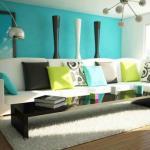 Deco maison ou séjour en vert turquoise