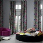 Décoration aux coussins et rideaux Madura