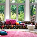 Décoration intérieure inspirée par les couleurs style « patchwork »