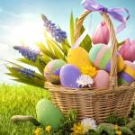 panier de Pâques aux œufs