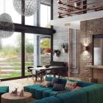 séjour design et moderne minimaliste