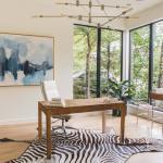 bureau à la maison aménagement luxe