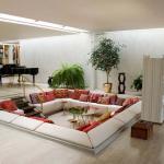 aménagement moderne séjour fosse de conversaton