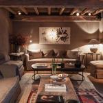 salon design déco rustique chalet de montagne