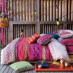 linge de lit parure de lit moderne coloré