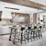 cuisine moderne design contemporaine rustique
