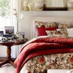 déco linge de lit Noël en rouge