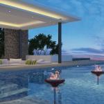 belle piscine extérieure résidence de grand standing