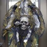 Couronne décoration de porte crâne Halloween